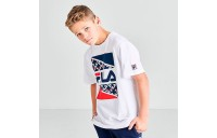 Boys' Fila Harden Box T-Shirt White Sales