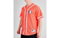 Men's Champion Mesh Baseball Jersey T-Shirt Groovy Papaya Sales