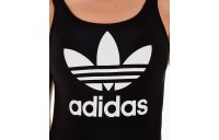 Women's adidas Originals Trefoil Swimsuit Black/White Sales