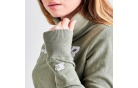 Women's Starter Crop Turtleneck Top Army Green Sales