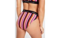 Women's Supply & Demand Logo Stripe Bikini Bottoms Multi Sales