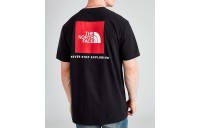 Men's The North Face Box T-Shirt Black/Red Sales