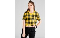 Women's Nike Sportswear Plaid Cropped T-Shirt Chrome Yellow Sales