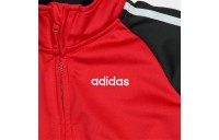 Boys' Infant adidas Colorblock Tricot Track Jacket and Jogger Pants Set Black/Red Sales