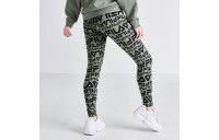 Women's Fila Kaylee Allover Print Leggings Black/Dusty Olive Sales