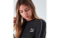 Women's Puma Rib Cropped Long-Sleeve Top Puma Black Sales