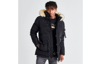 Men's SikSilk Long Parka Jacket Black Sales