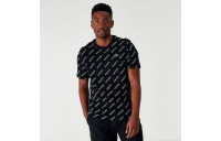 Men's Lacoste Allover Print T-Shirt Black Sales