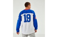 Men's Champion Long-Sleeve Football Jersey T-Shirt White/Royal Sales