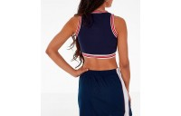 Women's Fila Nina V-Neck Crop Tank Top Navy Sales