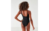 Women's adidas Originals Trefoil Skinny Strap Swimsuit Black/White Sales