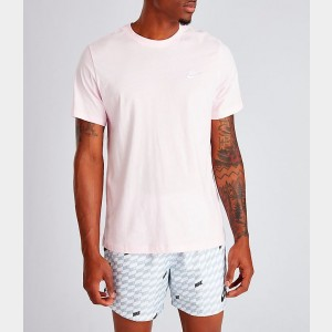 Men's Nike Sportswear Club T-Shirt Pink Foam/White/White Sales