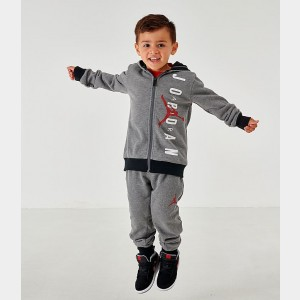 Boys' Infant and Toddler Jordan Full-Zip Hoodie and Pants Set Mid Grey Sales
