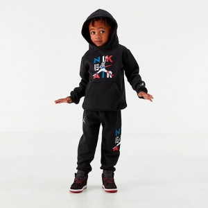 Boys' Toddler Jordan AJ4 Hoodie and Jogger Pants Set Black Sales