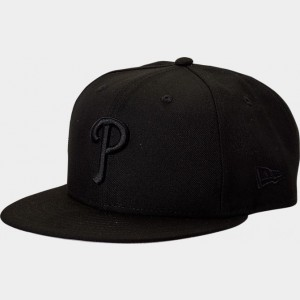New Era Philadelphia Phillies MLB 9FIFTY Snapback Hat Black Sales