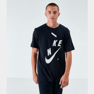 Men's Nike Sportswear Distorted Futura T-Shirt Black Sales