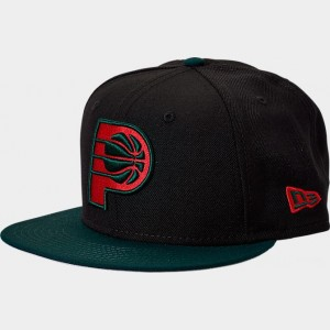 New Era Indiana Pacers NBA Team 9FIFTY Snapback Hat Black/Green/Red Sales