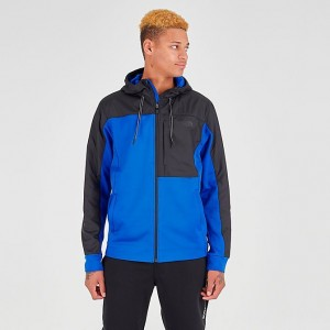 Men's The North Face Essential Fleece Full-Zip Hoodie TNF Blue/Black Sales