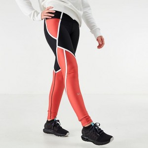 Women's Under Armour HeatGear Edgelit Leggings Black/Fractal Pink Sales