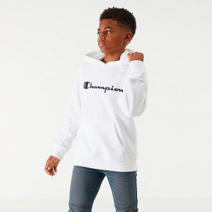 Kids' Champion Graphic Hoodie White Sales
