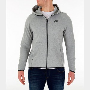 Men's Nike Sportswear Tech Fleece Full-Zip Hoodie Dark Grey Heather/Black/Black Sales
