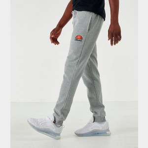 Men's Ellesse Ovest Fleece Jogger Pants Grey Sales