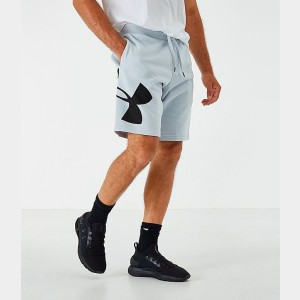 Men's Under Armour Rival Fleece Logo Shorts Halo Grey/Black Sales