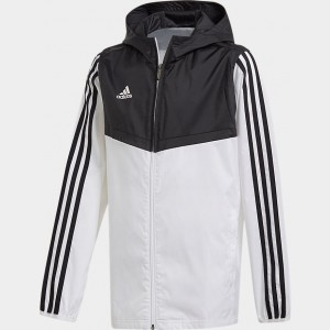 Kids' adidas Tiro Soccer Windbreaker Jacket White/Black Sales