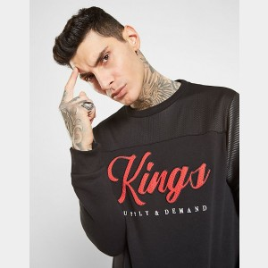 Men's Supply & Demand Bowling Crewneck Sweatshirt Black Sales