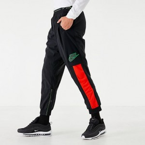 Men's Nike Dri-FIT Flex Sport Clash Training Pants Black/Sequoia/Habanero Red/Scream Green Sales