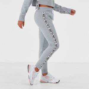 Women's Calvin Klein Tape Jogger Pants Pearl Grey Sales