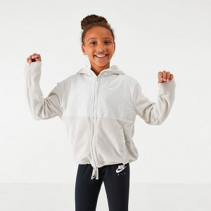 Girls' Nike Therma Full-Zip Training Hoodie Desert Sand/Sail Sales