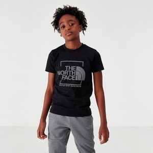 Boys' The North Face NSE Box T-Shirt Black Sales