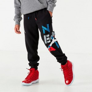 Boys' Jordan AJ4 Jogger Pants Black Sales