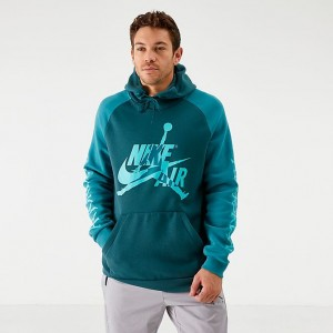 Men's Jordan Mashup Jumpman Classics Fleece Hoodie Faded Spruce Sales