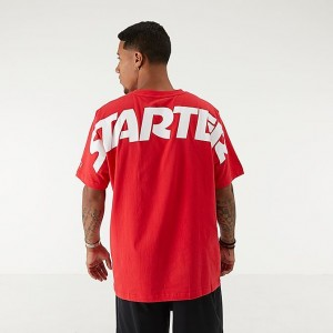 Men's Starter Logo T-Shirt Red/White Sales