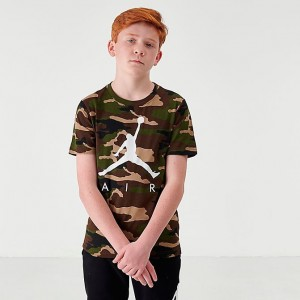Boys' Jordan Jumpman Air Camo Graphic T-Shirt Olive/Camo Sales
