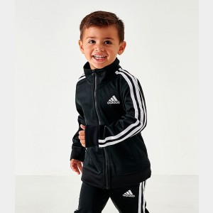 Little Boys' adidas Iconic Tricot Track Jacket Black/White Sales