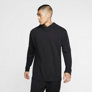 Men's Nike Yoga Dri-FIT Hoodie Black/Black Sales