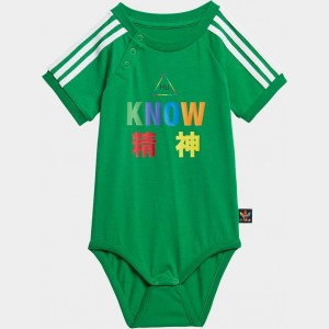 Infant and Toddler adidas Originals x Pharrell Williams TBIITD One Piece Bodysuit Green Sales