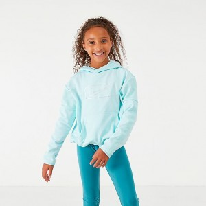 Girls' Nike Therma Shine Pullover Training Hoodie Teal Tint Sales