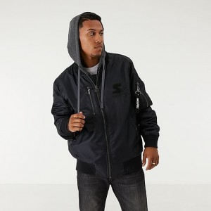 Men's Starter Aviator Jacket Black Sales