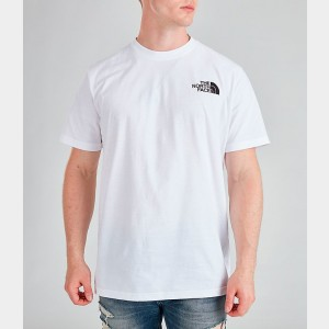 Men's The North Face Box T-Shirt White/Black Sales