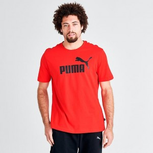 Men's Puma Essentials T-Shirt Red/Black Sales