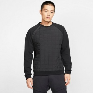 Men's Nike Sportswear Winter Crewneck Sweatshirt Black/Black Sales