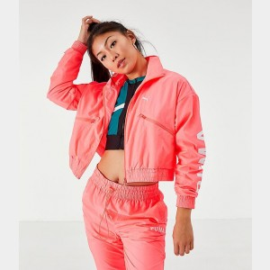 Women's Puma Chase Woven Jacket Pink Alert Sales