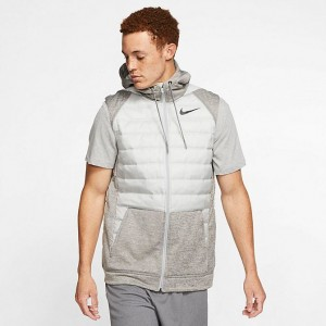 Men's Nike Therma Winterized Full-Zip Vest White/Grey Sales