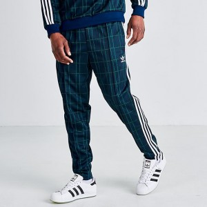 Men's adidas Originals Tartan BB Track Pants Multi Navy Sales