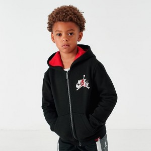 Boys' Little Kids' Jordan Mashup Jumpman Classics Full-Zip Hoodie Black Sales