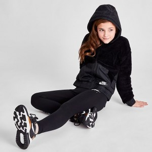 Girls' Nike Sportswear Sherpa Full-Zip Jacket Black Sales